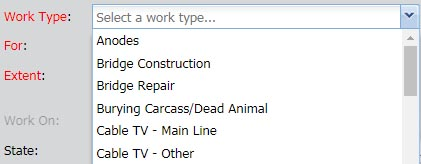 select your work type